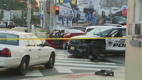 4 officers injured after police pursuit ends in multi-vehicle crash in Trenton