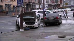 Officer among two hurt after crash in North Philaldelphia