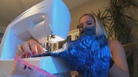 NJ woman creates business out of making masks for children