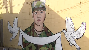 Mural of Vanessa Guillen painted by artists in Houston
