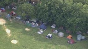 Homeless encampment organizers vow to stay despite deadline