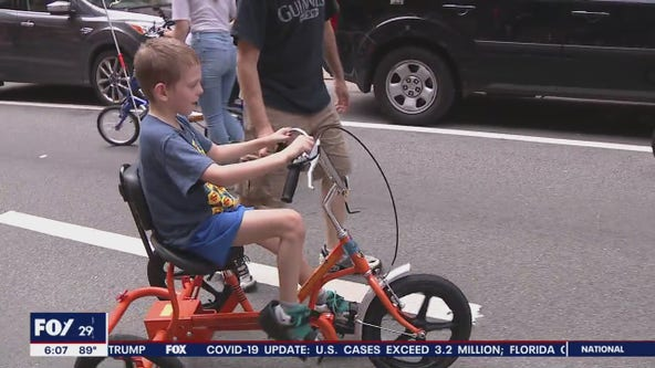 Organization donates bicycles to children with disabilities
