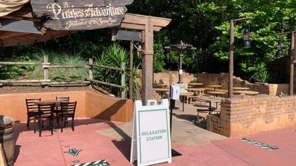 Disney World offering mask-free 'relaxation zones'