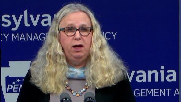 Rachel Levine sworn in as first openly transgender four-star admiral