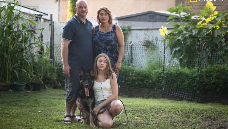 Buddy the German Shepherd and Mahoney Family
