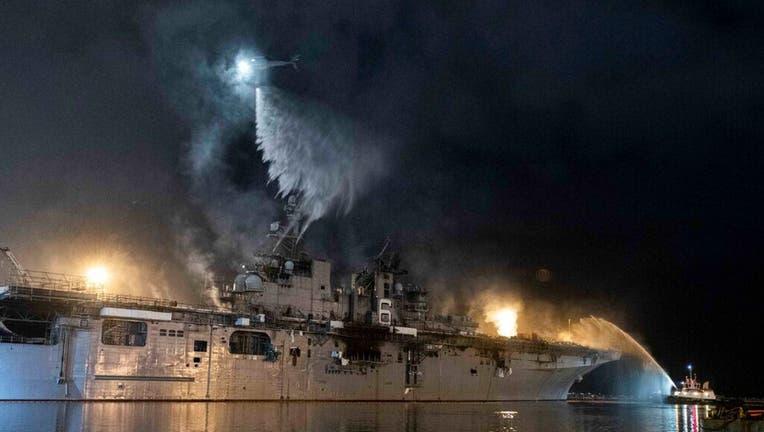 navy uss bonhomme richard fire