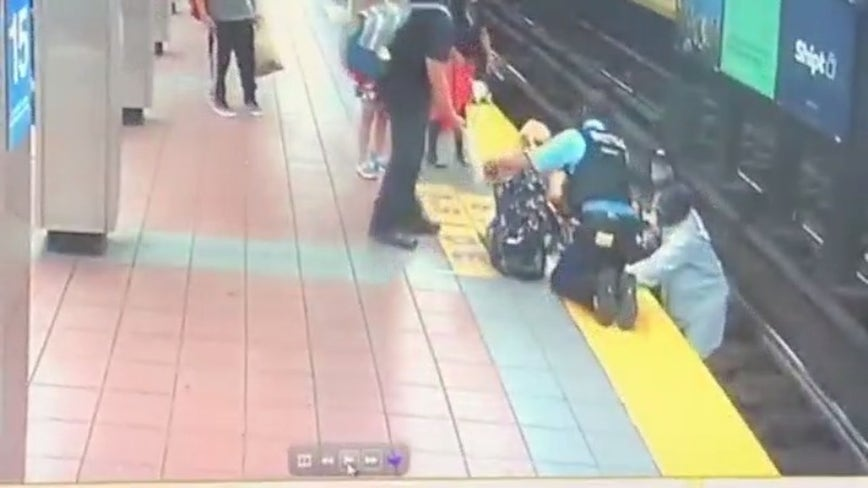 Woman falls on SEPTA tracks, lifted to safety by good samaritan, police
