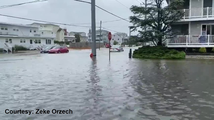Jersey shore bears the brunt of Tropical Storm Fey's impact on region