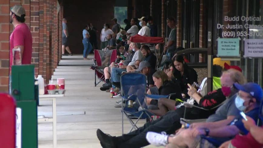 NJ drivers met with long lines at motor vehicle centers for second day
