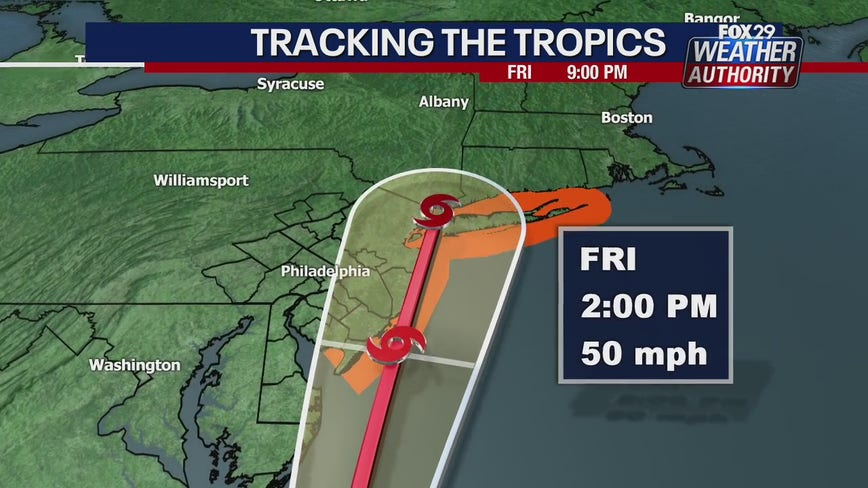 Tropical Storm Fay to bring heavy rains, strong winds to area Friday