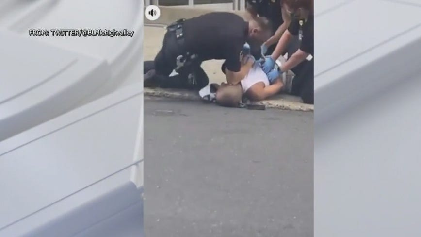 Video that shows Allentown police officer with knee on man's neck sparks fury