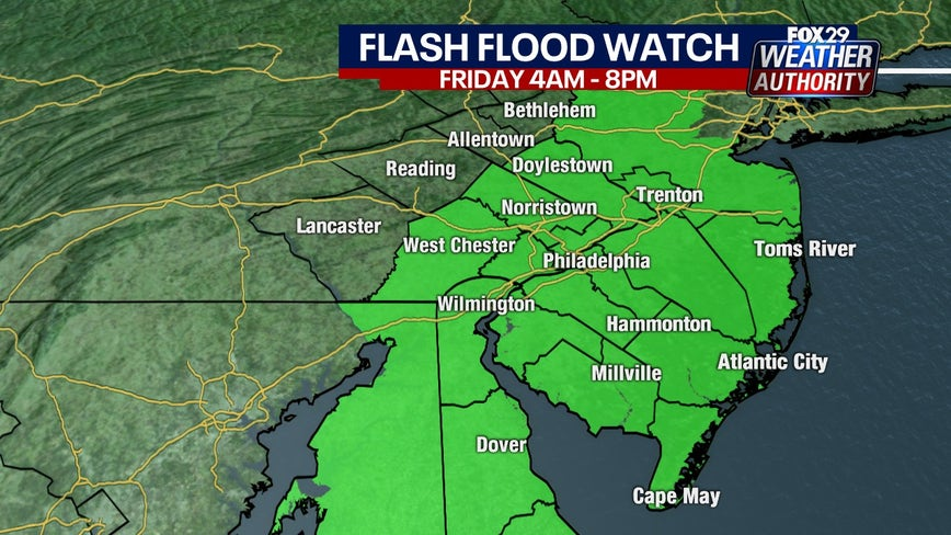 Weather Authority: Flash Flood Watches posted ahead of Friday storm