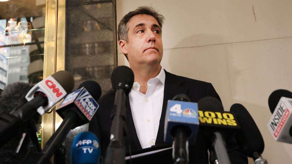 95760a05-Former Trump Lawyer Michael Cohen Leaves Manhattan Apartment For Three-Year Prison Sentence