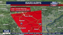 Tornado warning in effect until 8 a.m. in Philadelphia, suburban counties