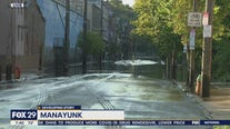 Main Street in Manayunk left flooded following Isaias