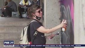 Artists give new life to a Trenton landmark