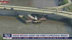 I-676 to remain closed until Thursday after barge wedges underneath bridge