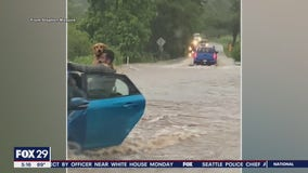 Good Samaritans rescue man and his dog during flash flooding in Delco