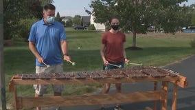 Father, daughter duo build marimba during quarantine