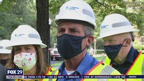 Gov. Carney surveys wake of storm damage in Delaware