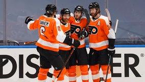 Hart, Farabee help Flyers beat Canadiens in Game 1