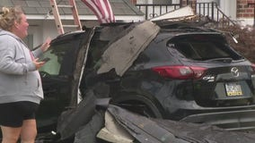 Roofs ripped off homes in Parkwood neighborhood in Northeast Philadelphia
