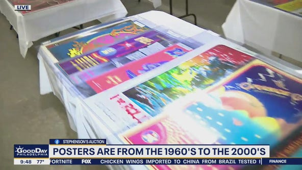 More than 300 rock concert posters up for auction in Bucks County Friday