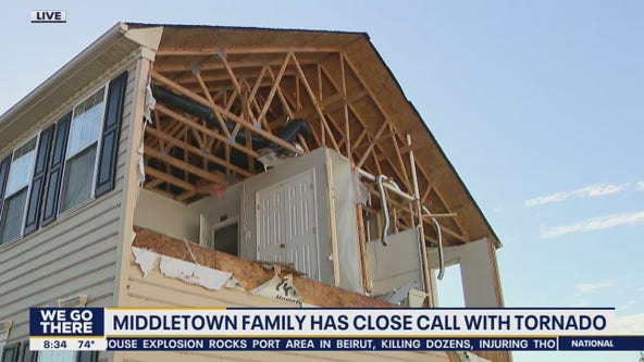 Middletown family has a close encounter with tornado