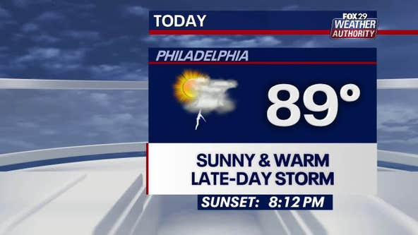 Weather Authority: Monday to bring sun, chance of afternoon storms
