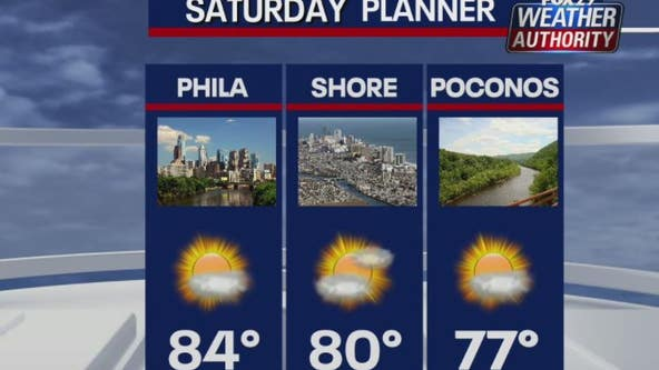 Weather Authority: Mix of sun and clouds expected Saturday before rain moves in