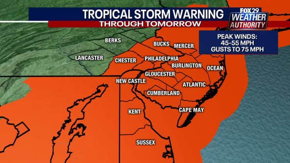 Tropical storm warnings issued for parts of tri-state area as Isaias approaches
