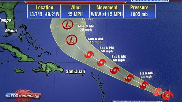 Tropical Storm Josephine forms in Atlantic