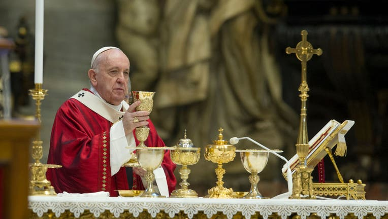 360bf5d4-Pope Francis Leads Mass For The Solemnity of Saints Peter and Paul