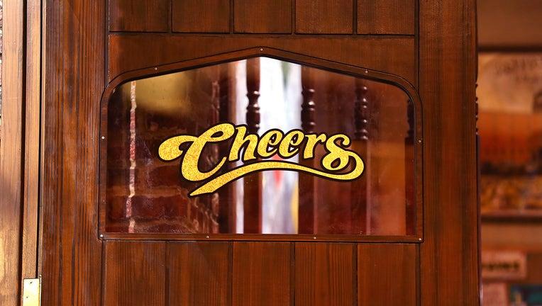 Replica of Cheers bar door