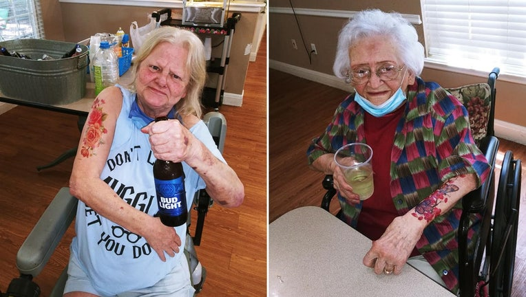 assisted living facility tattoo party