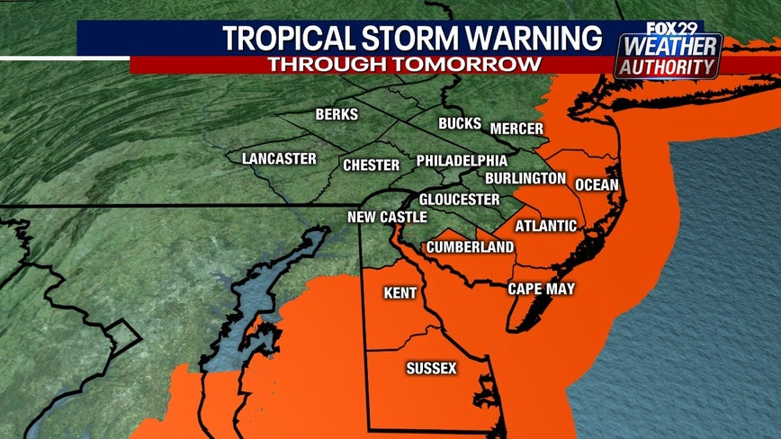Tropical storm warnings issued for parts of N.J., Del. as Isaias approaches