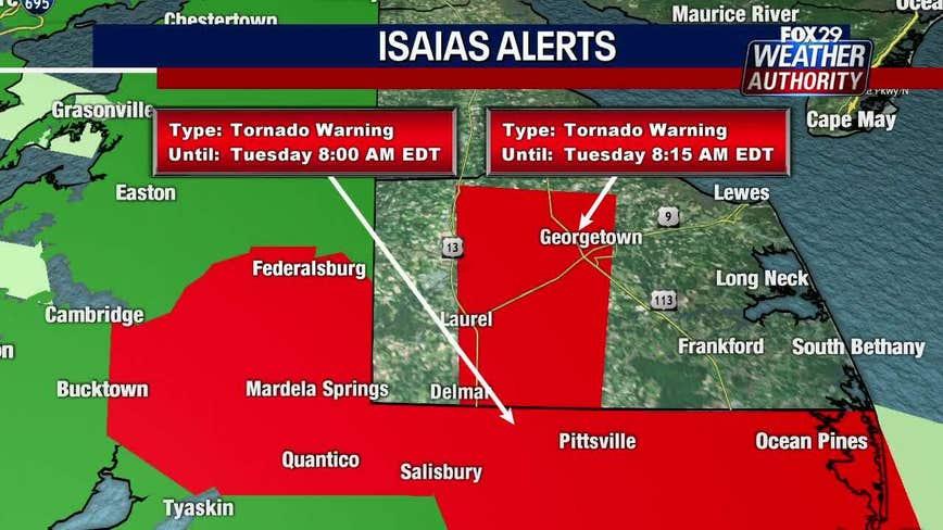 Tornado warnings expire in Philadelphia, suburban counties, new warning issued in Del.
