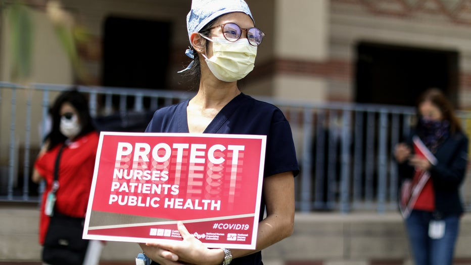 Health Care Workers Protest Lack Of PPE In Southern California