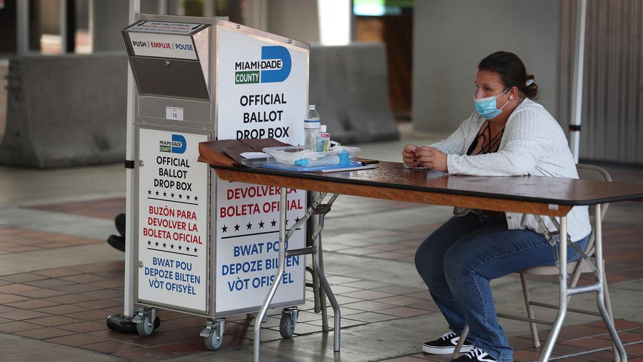 Florida Voters Use Designated Drop Boxes To Submit Ballots