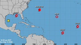 5 tropical cyclones brew in Atlantic at the same time, only 2nd time on record