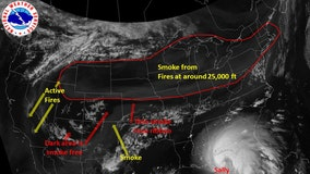 Smoke from West Coast wildfires reaches New York area