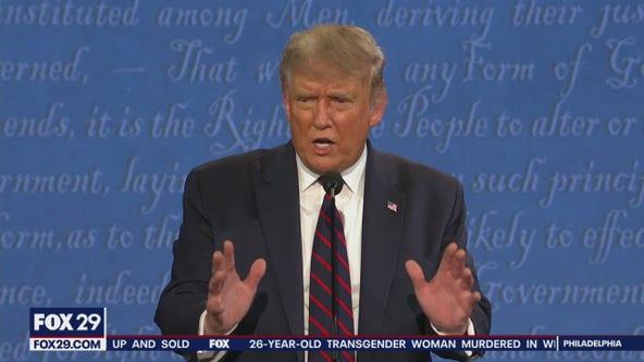'Bad things happen in Philadelphia': President Trump calls out Philly during presidential debate