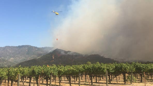 Fast-moving Glass Fire in Napa County burns 1,500 acres in first 12 hours