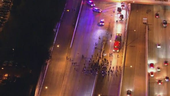 Demonstrators march in Philadelphia following grand jury decision in Breonna Taylor case