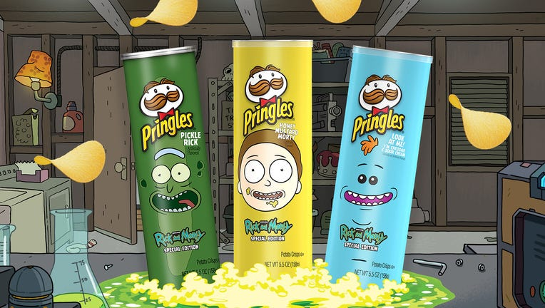 Kellogg Company Pringles Rick and Morty Cans