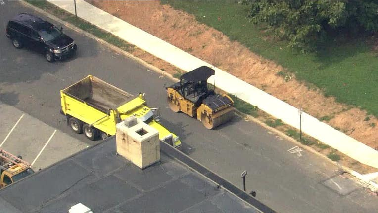 Police are investigating a deadly incident involving a road roller.