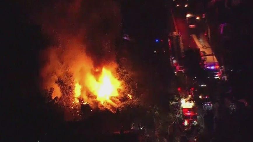 3-alarm fire tears through home in Trenton
