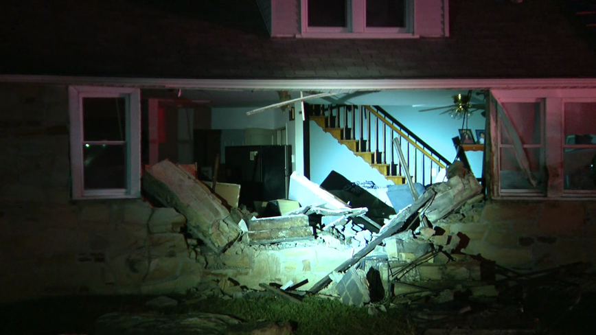 Authorities investigating after car slams into home in Levittown