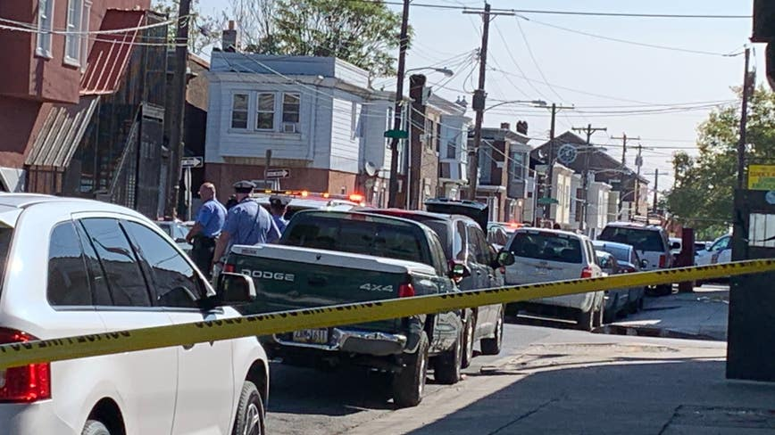 Police respond to barricade situation following shooting in Hunting Park