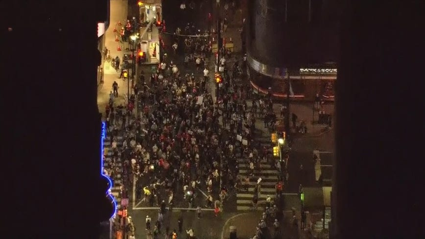 Breonna Taylor grand jury decision prompts peaceful protests in Center City